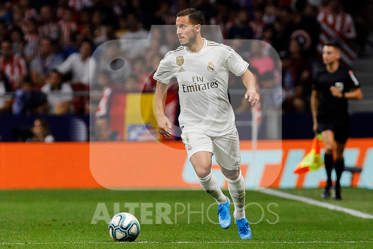 Eden Hazard of Real Madrid during La Liga match between Atletico de Madrid and Real Madrid at Wanda Metropolitano Stadium{ in Madrid, Spain. {iptcmonthname} 28, 2019. (ALTERPHOTOS/A. Perez Meca)
