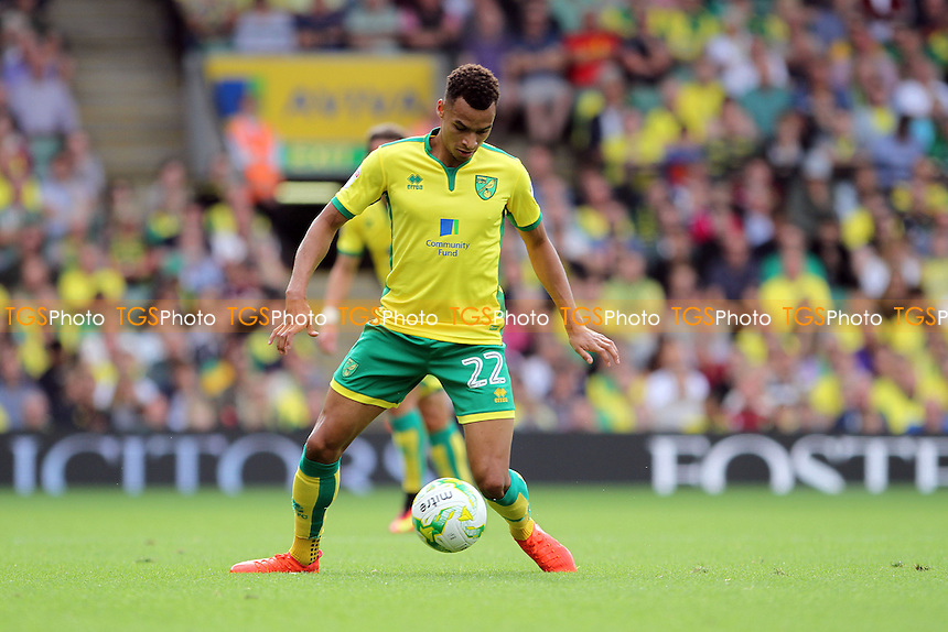 Jacob Murphy of Norwich City with the ball during Norwich City vs Burton Albion, Sky Bet EFL Championship Football at Carrow Road on 24th September 2016