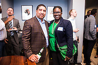 Kevin Mills, Naomi Shelton attend DC Tech Meets Muriel Bowser hosted by WeWork Wonder Bread Factory on August 13, 2014. Photos by Joy Asico /Guest of a Guest