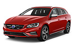 2017 Volvo V60 T6-R-Design 5 Door Wagon Angular Front stock photos of front three quarter view