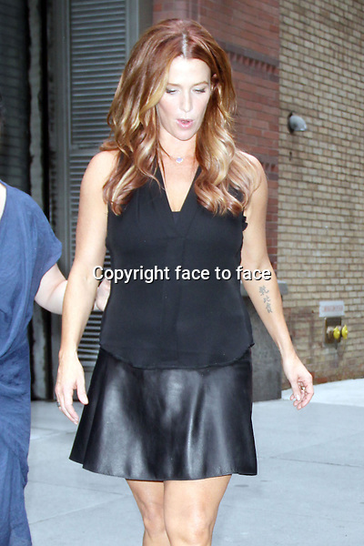 Poppy Montgomery at &quot;Live with Kelly &amp; Michael&quot; in New York, 01.08.2013.<br />