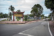 The entrance to the Nipah village in Nageri Sembilan, Malaysia on October 16th, 2016. <br /> In September 1998, a virus among pig farmers (associated with a high mortality rate) was first reported in the state of Perak in Malaysia. Dr. Chua investigated and discovered the virus and it was later named, Nipah Virus. The outbreak in Malaysia was controlled through the culling of &gt;1 million pigs.