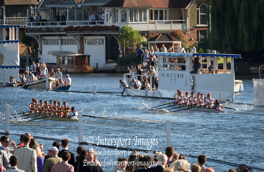 Henley Royal Regatta, Henley on Thames, Oxfordshire, 28 June - 2 July 2017.  Saturday  18:38:11   01/07/2017  [Mandatory Credit/Intersport Images]<br /> <br /> Rowing, Henley Reach, Henley Royal Regatta.<br /> <br /> The Princess Elizabeth Challenge Cup<br />  Radley College v  Shiplake College