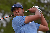 Tony Finau (USA) watches his tee shot on 2 during day 2 of the Valero Texas Open, at the TPC San Antonio Oaks Course, San Antonio, Texas, USA. 4/5/2019.<br /> Picture: Golffile | Ken Murray<br /> <br /> <br /> All photo usage must carry mandatory copyright credit (© Golffile | Ken Murray)
