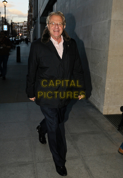 LONDON , UK - FEBRUARY 26 - Jerry Springer arriving at the One Show at BBC Studios, London , England , 26th February 2014. <br /> CAP/IA<br /> &copy;Ian Allis/Capital Pictures