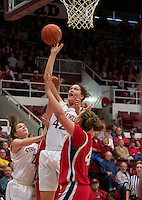 STANFORD, CA:  Sarah Boothe during Stanford's 77-40 victory over Fresno State at Stanford, California on December 12, 2010.