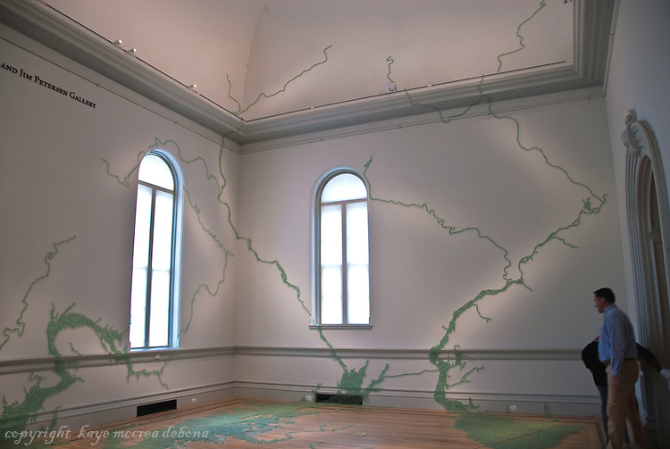 """Wonder"" is the inaugural exhibition at the Renwick Gallery in Washington D.C. - Artist Maya Lin, best known as the creator of the Vietnam Memorial"