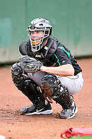 June 13th 2008:  Catcher Jason Bour of the Dayton Dragons, Class-A affiliate of the Cincinnati Reds, during a game at Stanley Coveleski Regional Stadium in South Bend, IN.  Photo by:  Mike Janes/Four Seam Images