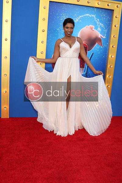 "Jennifer Hudson<br /> at the ""Sing"" Premiere, Microsoft Theater, Los Angeles, CA 12-03-16<br /> David Edwards/DailyCeleb.com 818-249-4998"