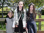 Tiegan Beattie who was confirmed in Holy Family church Ballsgrove pictured with her sister Lia and brother Sam Photo:Colin Bell/pressphotos.ie