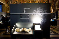 "La mostra sui segreti del Vaticano ""Lux in arcana"", apre nei Musei Capitolini. Un evento storico senza precedenti con 100 documenti originali provenienti dall'archivio Segreto Vaticano..""Lux in Arcana – The Vatican Secret Archives Reveals Itself"" exhibition, opens in the splendid halls of Rome's Capitoline Museums. An unprecedent cultural and media event: 100 original documents, preserved for 400 years in the papal archives, have crossed the boundaries of Vatican City for the first time ever, in order to be put on display at the Capitoline Museums in Rome."