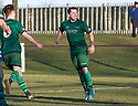 Stirling's Chris Geddes celebrates after he scores their second goal from the penalty spot.