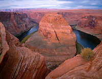 AZNE_09 -    Horseshoe Bend on the Colorado River, near Page, Glen Canyon National Recreation Area, northeast Arizona, USA --- (4x5 inch original, File size: 7711x6000, 132mb uncompressed)