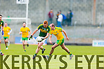 Johnny Buckley Kerry in action against Neil Gallagher Donegal in Division One of the National Football League at Austin Stack Park Tralee on Sunday.