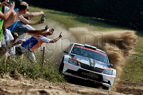 03.07.2016. Mikolajki, Poland. WRC Rally of Poland, stages 18-21 and Podium. Teemu Suninen