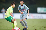 (L to R) <br /> Naoko Sakuramoto (JEF Ladies), <br /> Yuka Momiki (Beleza), <br /> SEPTEMBER 17, 2017 - Football / Soccer : <br /> 2017 Plenus Nadeshiko League Division 1 match <br /> between JEF United Ichihara Chiba Ladies 0-1 NTV Beleza <br /> at Frontier Soccer Field in Chiba, Japan. <br /> (Photo by AFLO SPORT)