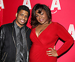 Chester Gregory & Da'Vine Joy Randolph attending the Opening Night After Party for the Atlantic Theater Company's 'What Rhymes with America' at Moran's in New York on December 12, 2012