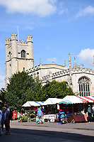 Great St Margaret's church & market, Cambridge UK