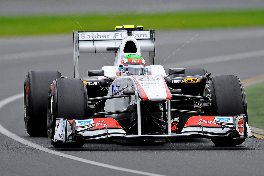 MELBOURNE, 25 MARCH - Sergio Perez Mendoza (Mexico) driving the Sauber F1 Team car (17) during practise session one of the 2011 Formula One Australian Grand Prix at the Albert Park Circuit, Melbourne, Australia. (Photo Sydney Low / syd-low.com)