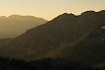 Sunrise light over Angora and Echo Peaks, Desolation Wilderness, El Dorado National Forest, California