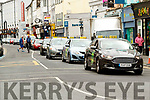 Tralee Taxi drives slowly through Tralee on Thursday.