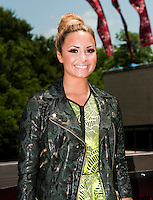 Demi Lovato arrives at the Frank Erwin Center in Austin, TX for the first day of audition for The X Factor on Thurs., May 24, 2012. copyright Media Punch Inc.