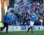 Stuart McCall and Lee McCulloch after the Rangers captain was getting booed by his own supporters