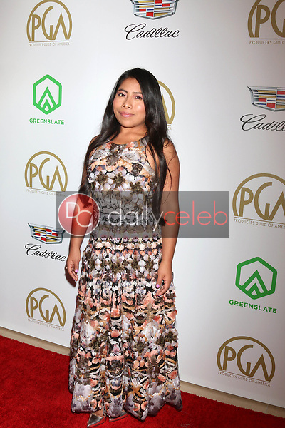 Yalitza Aparicio<br /> at the 2019 Producer's Guild Awards, Beverly Hilton Hotel, Beverly Hills, CA 01-19-19<br /> David Edwards/DailyCeleb.com 818-249-4998