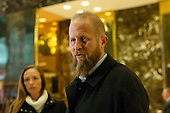 Trump campaign digital director Brad Parscale is seen in the in the lobby of Trump Tower in New York, NY, USA on December 3, 2016. <br /> Credit: Albin Lohr-Jones / Pool via CNP