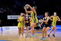 Central Manawa&rsquo;s Monalisa Groom in action during the Beko Netball League - Central Manawa v Waikato Bay of Plenty at TSB Bank Arena, Wellington, New Zealand on Sunday 21 April 2019. <br /> Photo by Masanori Udagawa. <br /> www.photowellington.photoshelter.com