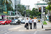 Businessmen in Singapore Central Business District (CBD)