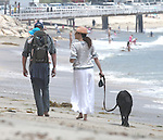 5-25-09.minnie driver walking on the beach with baby henry and random guy..AbilityFilms@yahoo.com.805-427-3519.www.AbilityFilms.com