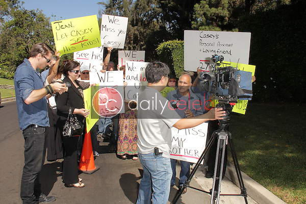 Caset Kasem's brother, Mouner Kasem, speaks to the press<br /> at a protest involving Casey Kasem's children, brother and friends who want to see him but have been denied any contact,  Private Location, Holmby Hills, CA 10-01-13<br /> David Edwards/Dailyceleb.com 818-249-4998