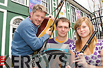 MUSIC MAKERS: South Kerry musicians hitting the high notes as they prepare for the Caherciveen Celtic Music Festival..L/r. Russell Cunningham (Emlough), Sean Egan (Aughatubrid) and Tina Rass (Aughatubrid)..