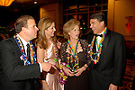 Tilman and Paige Fertitta with Anita and Rick Perry at the San Luis Mardi Gras Ball in Galveston Friday Feb. 01,2008.(Dave Rossman/For the Chronicle)