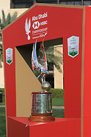 The trophy during the Pro-Am of the Abu Dhabi HSBC Championship 2020 at the Abu Dhabi Golf Club, Abu Dhabi, United Arab Emirates. 15/01/2020<br /> Picture: Golffile | Thos Caffrey<br /> <br /> <br /> All photo usage must carry mandatory copyright credit (© Golffile | Thos Caffrey)