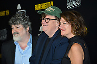 LOS ANGELES, CA. September 19, 2018: Michael Moore, Carl Deal &amp; Meghan O'Hara at the Los Angeles premiere for Michael Moore's &quot;Fahrenheit 11/9&quot; at the Samuel Goldwyn Theatre.<br /> Picture: Paul Smith/Featureflash