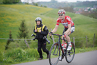 Pim Ligthart (NLD/Lotto-Belisol) up the 'steepest climb' in Holland: Keutenberg (22%)<br /> <br /> Amstel Gold Race 2014