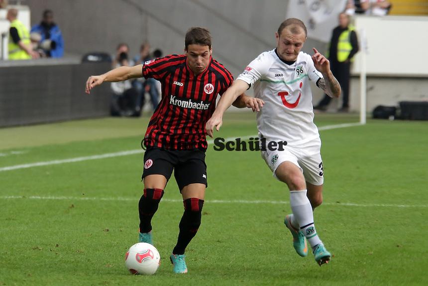 Stefano Celozzi (Eintracht) gegen Konstantin Rausch (Hannover)
