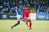 O's Joe Widdowson & Nathan Blisset during Macclesfield Town vs Leyton Orient, Vanarama National League Football at the Moss Rose Stadium on 14th April 2018