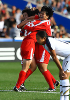 Korea celebrate the goal of Hyon Sun Jang (PRK)..FIFA U17 Women's World Cup Final, USA v Korea DPR, Albany Stadium, Auckland, New Zealand, Sunday 16 November 2008. Photo: Renee McKay/PHOTOSPORT