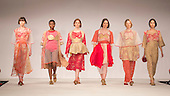 Collection by Briony Campbell-Ross from Edinburgh College of Art. Graduate Fashion Week 2014, Runway Show at the Old Truman Brewery in London, United Kingdom. Photo credit: Bettina Strenske