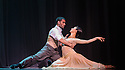 "London, UK. 29.02.2016. German Cornejo's ""Immortal Tango"" opens at the Peacock Theatre. The dancers are: German Cornejo, Gisela Galeassi, Jose Fernandez, Martina Waldman, Max Van De Voorde, Solange Acosta, Mariano Balois, Sabrina Amuchastegui, Leonard Luizaga, Mauro Caiazza, Tere Sanchez Terraf, Julio Seffino, Carla Dominguez. Picture shows: German Cornejo, Gisela Galeassi. Photograph © Jane Hobson."