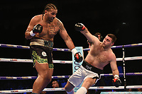 Nick Webb (black shorts) defeats Ante Verunica during a Boxing Show at The O2 on 3rd February 2018