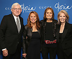 "Phil Donahue, Marlo Thomas, Gloria Steinem and Daryl Roth attends the Opening Night Performance of ""Gloria: A Life"" on October 18, 2018 at the Daryl Roth Theatre in New York City."