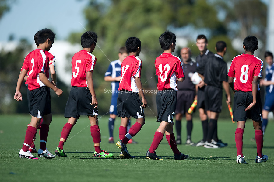 MELBOURNE, AUSTRALIA - March 13: Singapore U15 boys Youth Olympic Games Training Tour match between Singapore and the Victorian National Training Centre - NTC - squad at Darebin International Sports Centre on 13 March 2010, Darebin, VIC, Australia. Photo Sydney Low www.syd-low.com