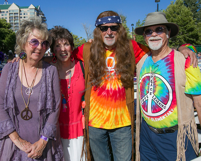 """Carol, Sharron, Martin and John during the Pops on the River """"A night at Woodstock"""" concert at Wingfield Park in downtown Reno on Saturday, July 13, 2019."""