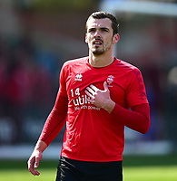 Lincoln City's Harry Toffolo during the pre-match warm-up<br /> <br /> Photographer Andrew Vaughan/CameraSport<br /> <br /> The EFL Sky Bet League Two - Lincoln City v Cheltenham Town - Saturday 13th April 2019 - Sincil Bank - Lincoln<br /> <br /> World Copyright © 2019 CameraSport. All rights reserved. 43 Linden Ave. Countesthorpe. Leicester. England. LE8 5PG - Tel: +44 (0) 116 277 4147 - admin@camerasport.com - www.camerasport.com