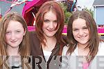 ATMOSPHERE: Maggie OConnor, Abbeyfeale, with.Melissa and Natasha Wrenn, Tournafulla, enjoy the festival.atmosphere in Athea on Sunday.