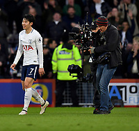 Tottenham Hotspur's Son Heung-Min getting after match TV attention after two goals<br /> <br /> Bournemouth 1 - 4 Tottenham Hotspur<br /> <br /> Photographer David Horton/CameraSport<br /> <br /> The Premier League - Bournemouth v Tottenham Hotspur - Sunday 11th March 2018 - Vitality Stadium - Bournemouth<br /> <br /> World Copyright &copy; 2018 CameraSport. All rights reserved. 43 Linden Ave. Countesthorpe. Leicester. England. LE8 5PG - Tel: +44 (0) 116 277 4147 - admin@camerasport.com - www.camerasport.com